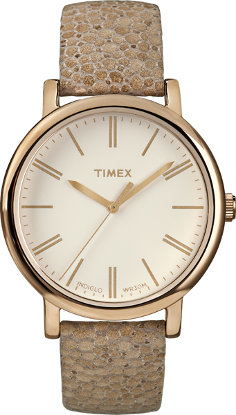 Timex Womens Originals Mosaic Pattern Leather Strap Everday Casual Fashion Watch